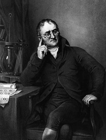 Jhon Dalton. Inglés, Modelo de Dalton (1803)