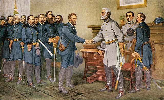 The Treaty at Appomattox Courthouse