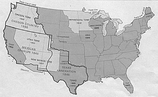 Mexico loses California, New Mexico, and Arizona