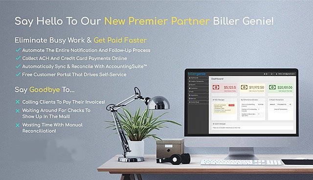 AccountingSuite™ Announces Integration with Biller Genie