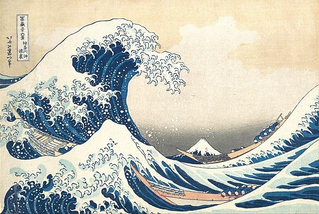 La gran ola de kanagawa.