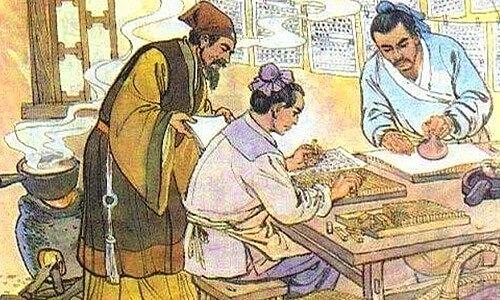 Fabricación del papel en Japón.