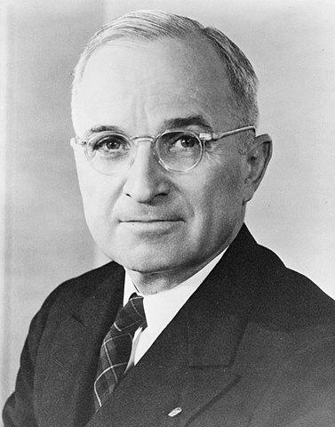 Franklin Roosevelt dies and Harry Truman succeeds him as President