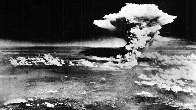 U.S. drops atomic bombs on Hiroshima