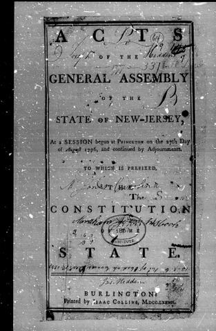 New Jersey Constitution of 1776
