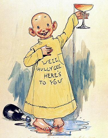 """Serie: Hogan's Alley-""""El chico amarillo"""" por Richard Felton Outcault."""