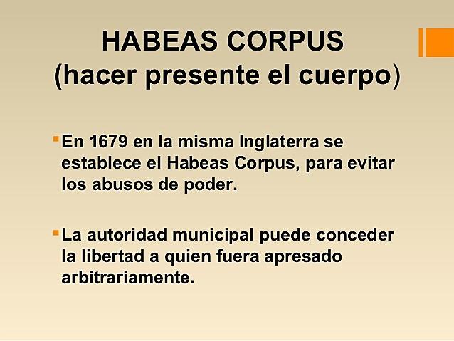 Acta de Habeas Corpus