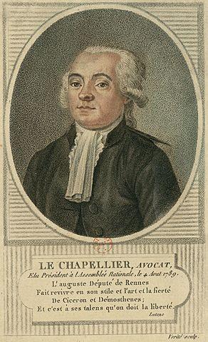Ley Chapelier.