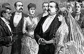 June 2, 1886President Grover Cleveland marries Francis Folsom in the White House Blue Room