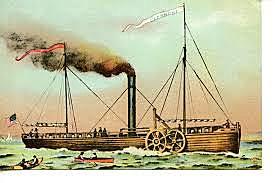 Primera linea comercial con barcos propulsados a vapor