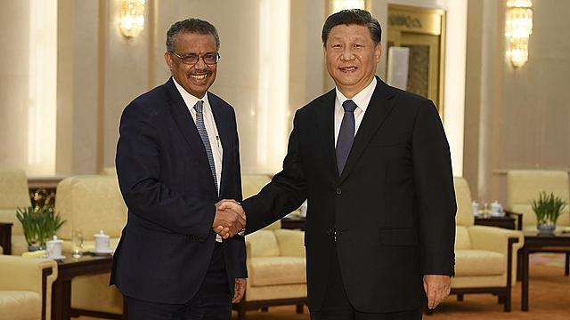 Reunión entre China y la OMS