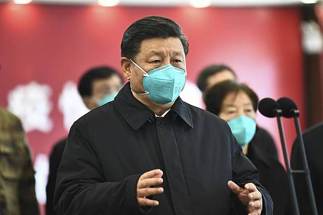 Presidente Xi en primera linea