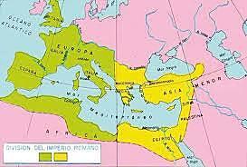 Separació de l'imperi romà
