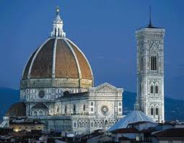 Leonardo participated in the dome of Florence Cathedral construction.