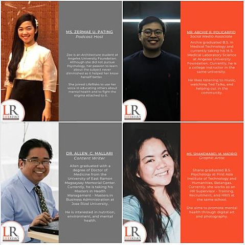 LifeRisks' four new volunteers
