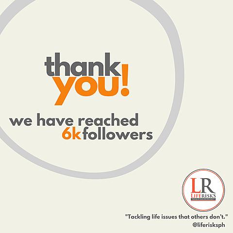 LifeRisks Facebook page reached 6k!