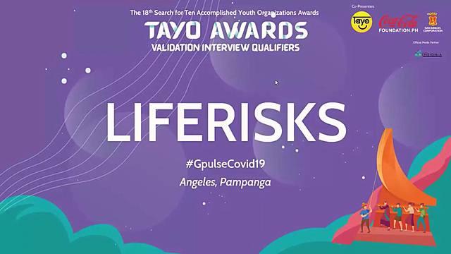 LifeRisks at TAYO Awards Validation Interview Qualifiers