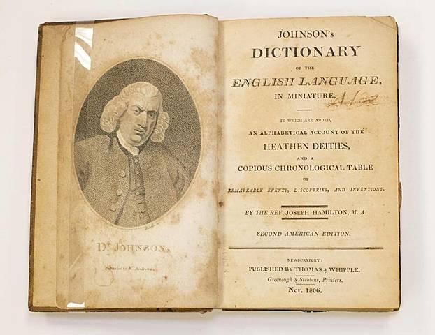 Опубликование словаря английского языка С. Джонса