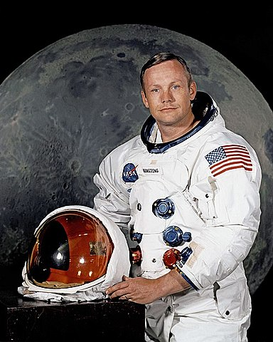 Niel Armstrong på månen