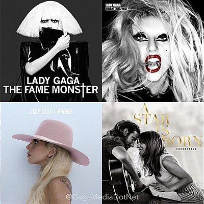 A discografia de Lady Gaga timeline