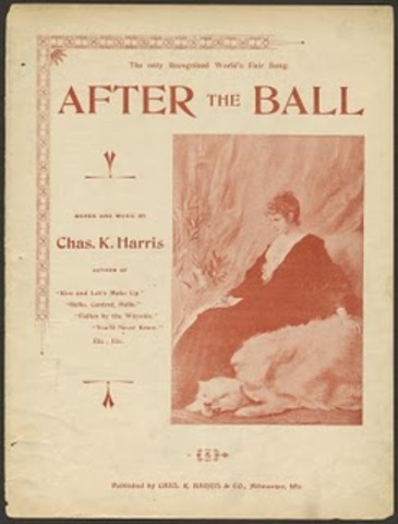 """First Million- Seller song hit (sheet music) """"After The Ball"""""""