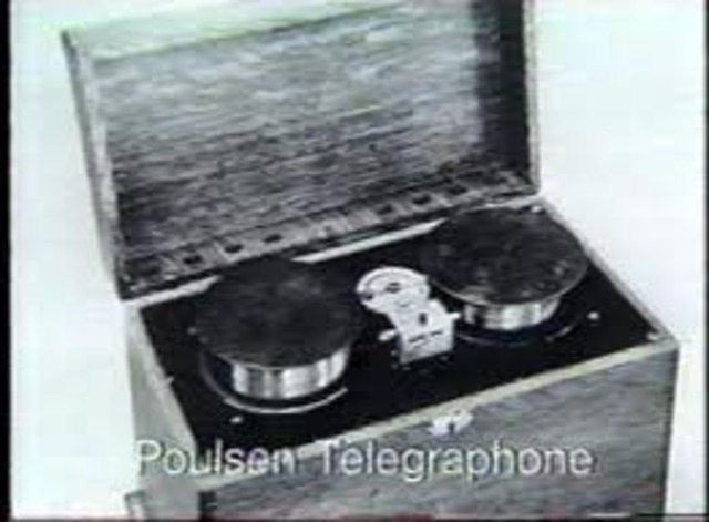 Danish inventor Valdemar Poulson invents magnetic wire sound recording