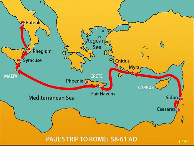 Viaje de Pablo a Roma