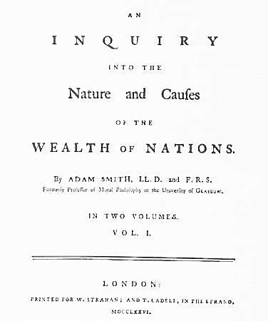 Adam Smith public The Wealth of Nations