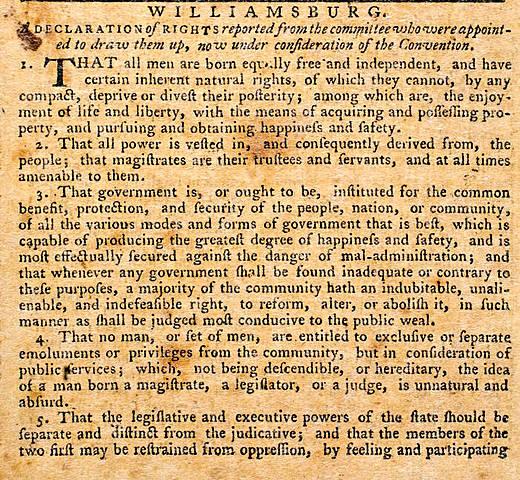 Declaración de Derechos de Virginia