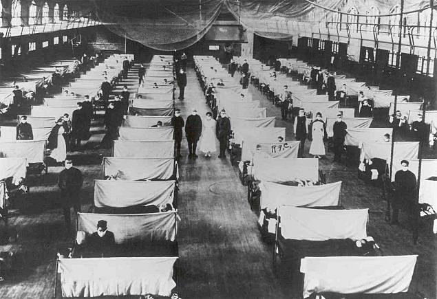 Worldwide Spanish flu epidemic strikes