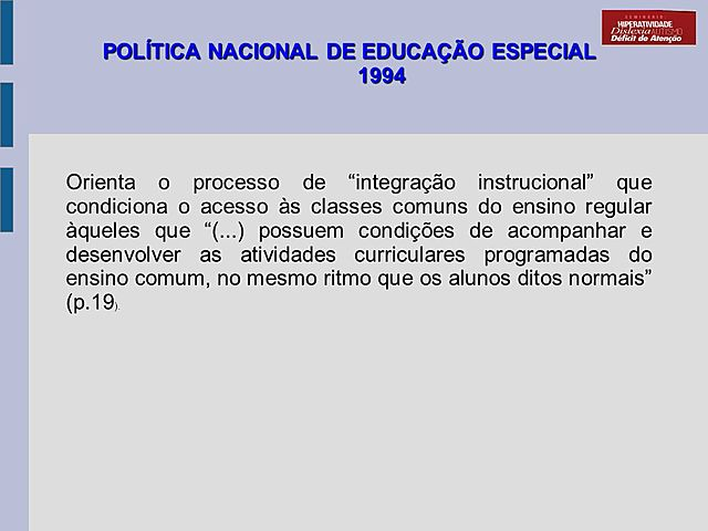 Política Nacional de Educação Especial de 1994