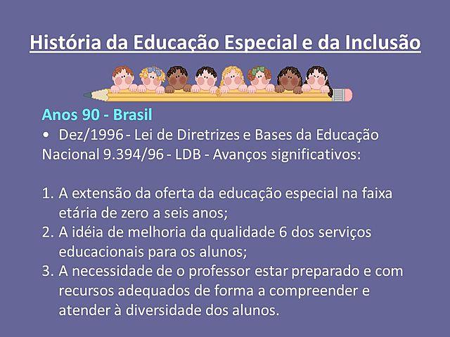 Educação Especial - Lei 9.394/96