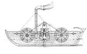 INVENTO: Barco de vapor con ruedas