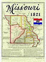 Missouri becomes a state.