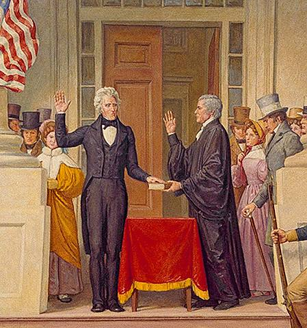 Andrew Jackson wins presidential election.