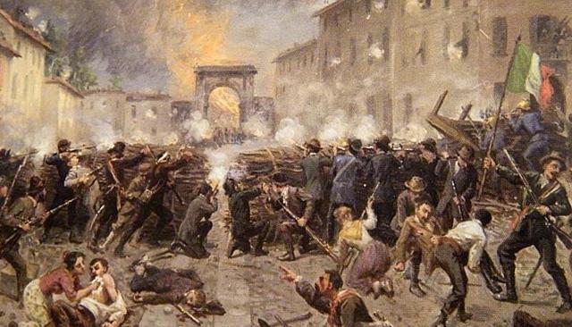 Rivolte contro gli Austriaci a Venezia e milano