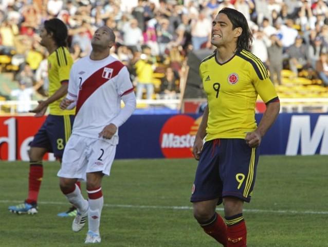 Peru vs Colombia match.