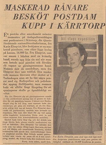 Postföreståndarinnan Karin Elmqvist blir beskjuten...