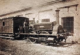 Primera línea de ferrocarril para cargas