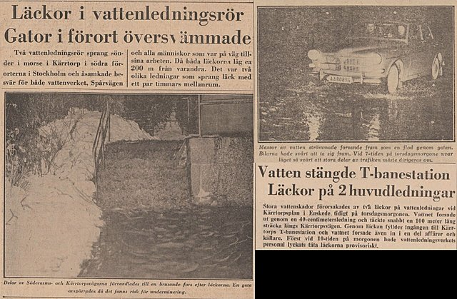 Kärrtorps centrum översvämmas...