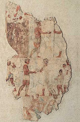 Fresco en una tumba del monte Esquilino