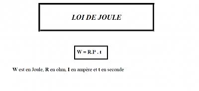 Lois de Joule