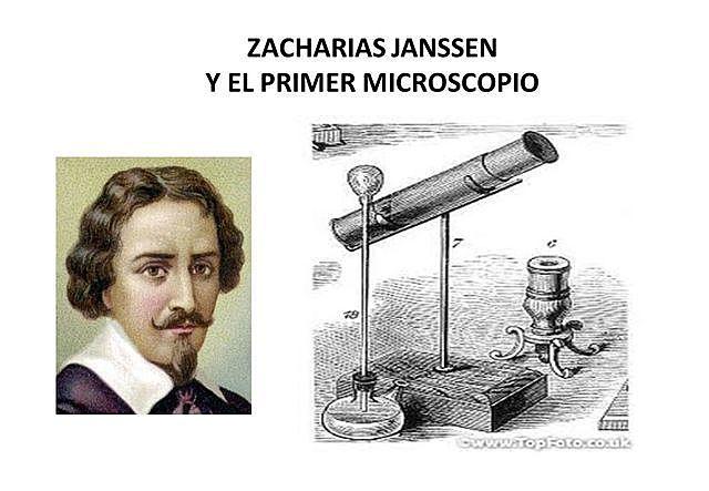 El primer microscopio.