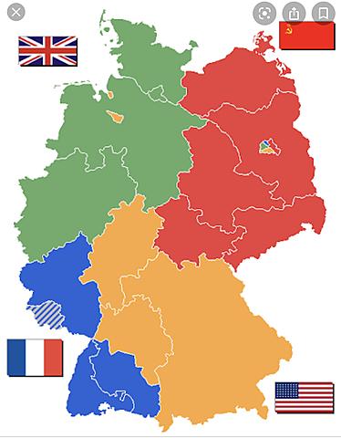 Tyskland delt i fire