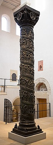 The column and doors of the Church of St Michael