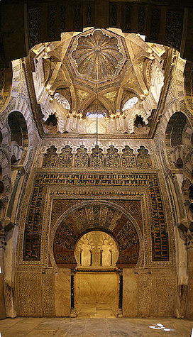 The mihrab of the Cordoba Mosque is begun