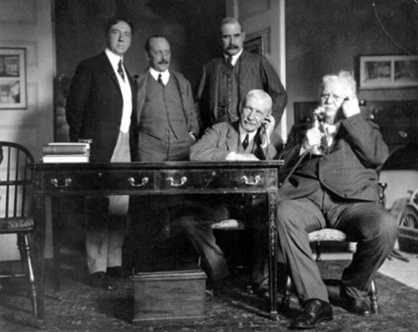 First Transcontinental telephone call.