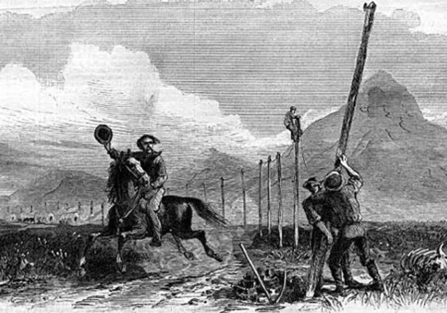 The first telegraph line
