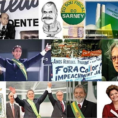 Nova República - Tancredo Neves até Dilma Rousseff timeline