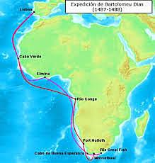 Llegada al Cabo de Buena Esperanza